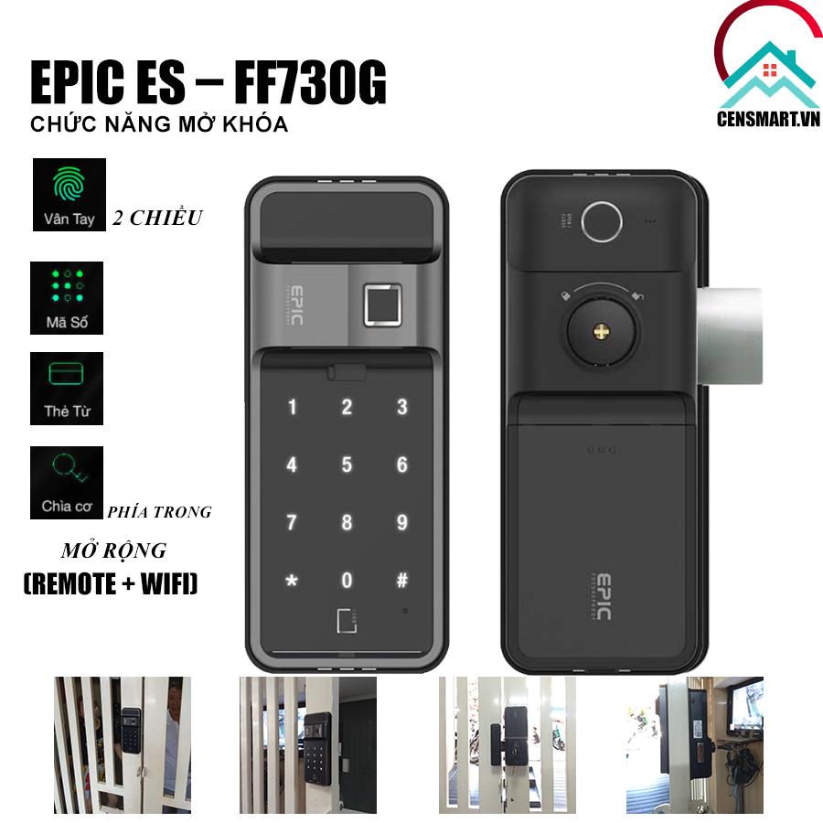 khóa vân tay cửa sắt EPIC FF730G